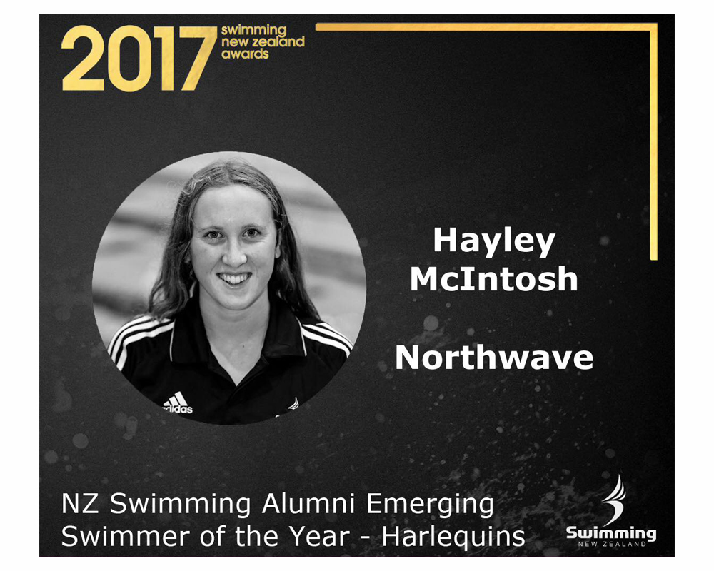 NZ Swimming Alumni Zonal Emerging Swimmer for the Harlequins